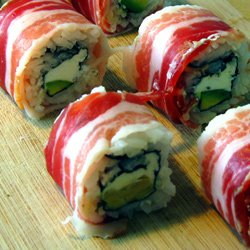 Epic sushi roll (with bacon)