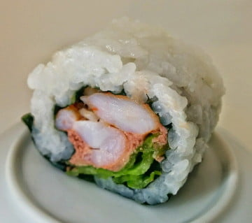 PLS Roll: Pate, lettuce & shrimp