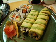 Green roll (Vegan sushi)