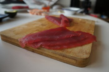 tuna slices