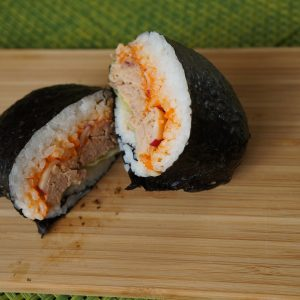 Spicy (canned) tuna Onigirazu sushi sandwich